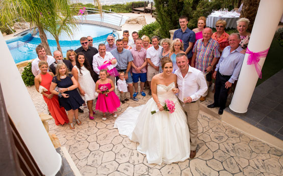 Panorama Wedding Cyprus Villas Reception