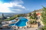 Panorama Villa Cyprus, Private mosaic swimming pool with rare deck ,  RentCyprusVillas