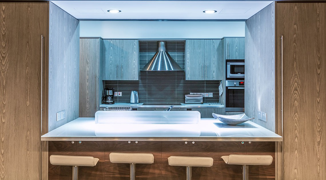 Oceania Villa Kitchen and Breakfast Bar, WeddingCyprusVillas