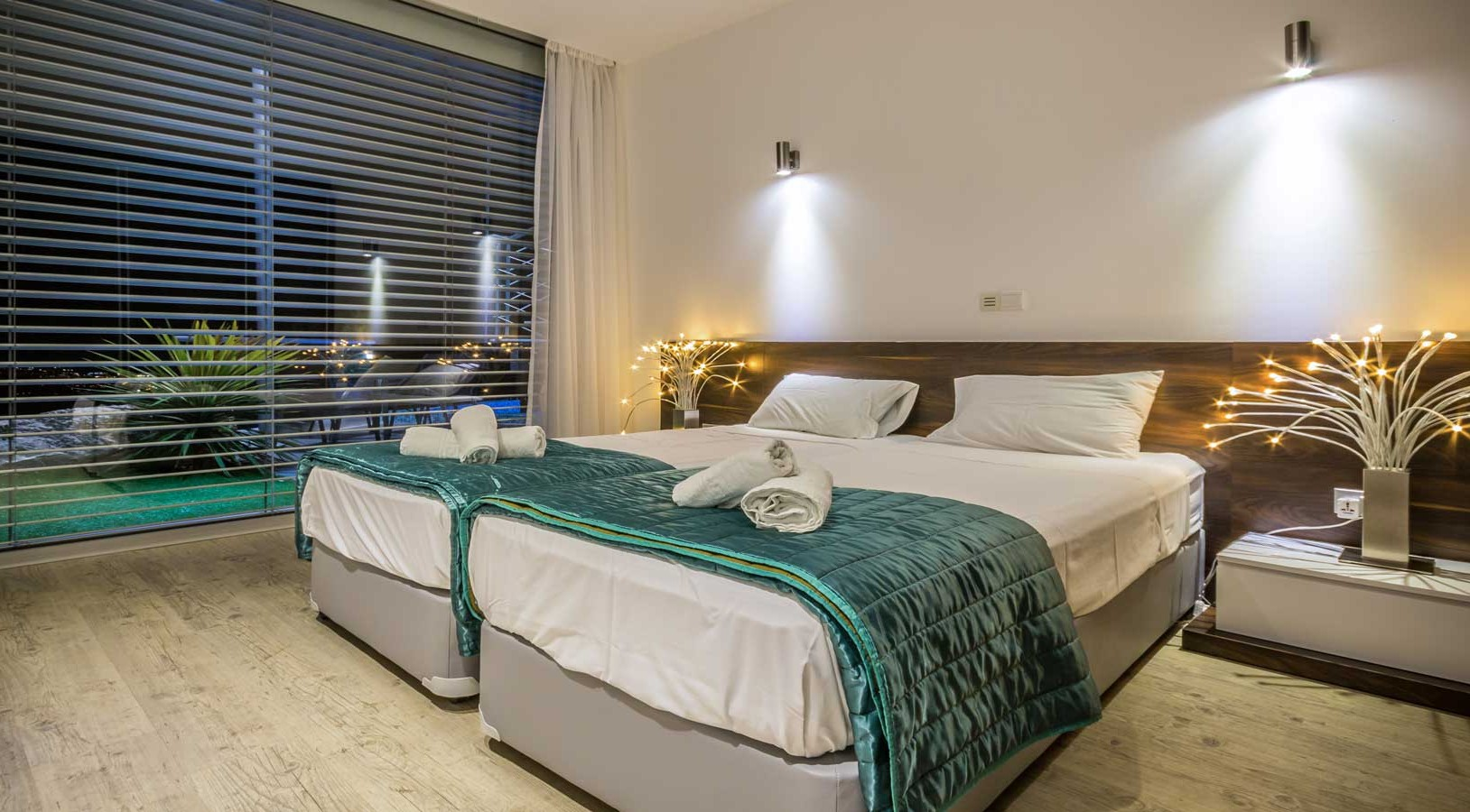 Oceania Villa Luxury Twin Bedrooms  Wedding Cyprus Villas