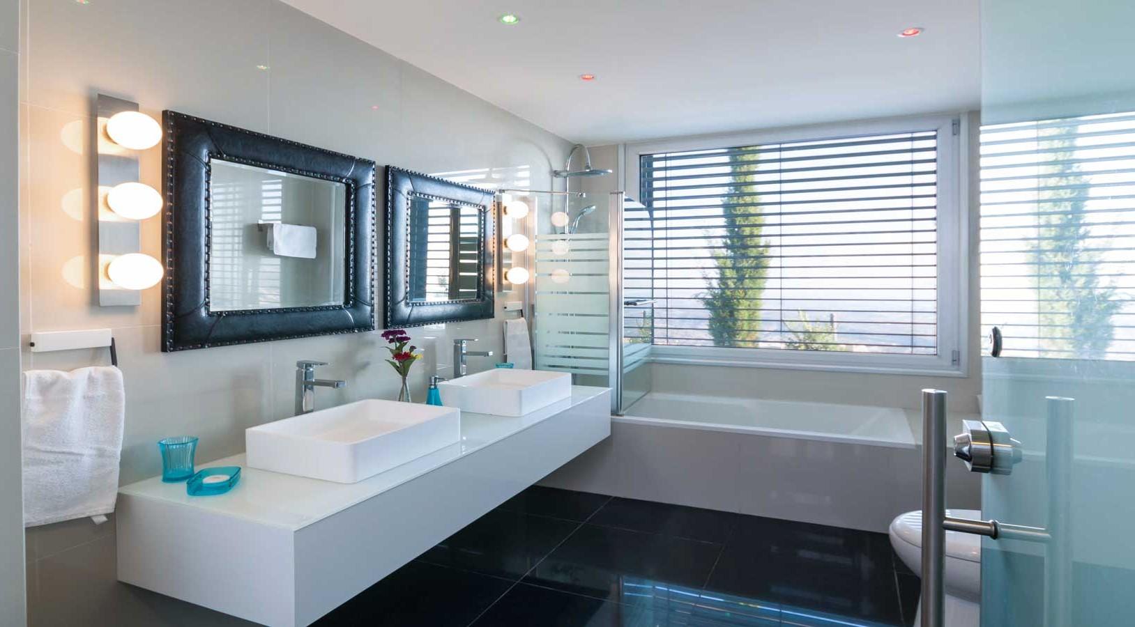 Oceania Villa Spacious Bathroom  Wedding Cyprus Villas