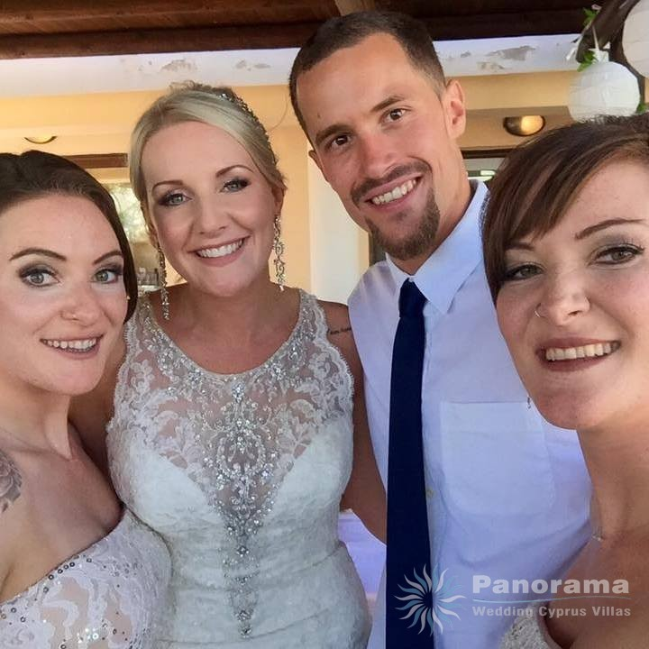 Panorama Oceania wedding Paphos 2017 happy couple