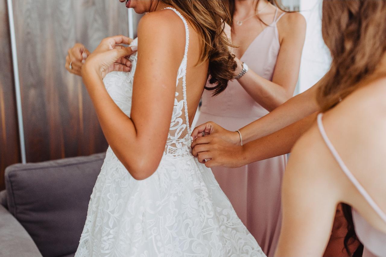 Bride preparation dress