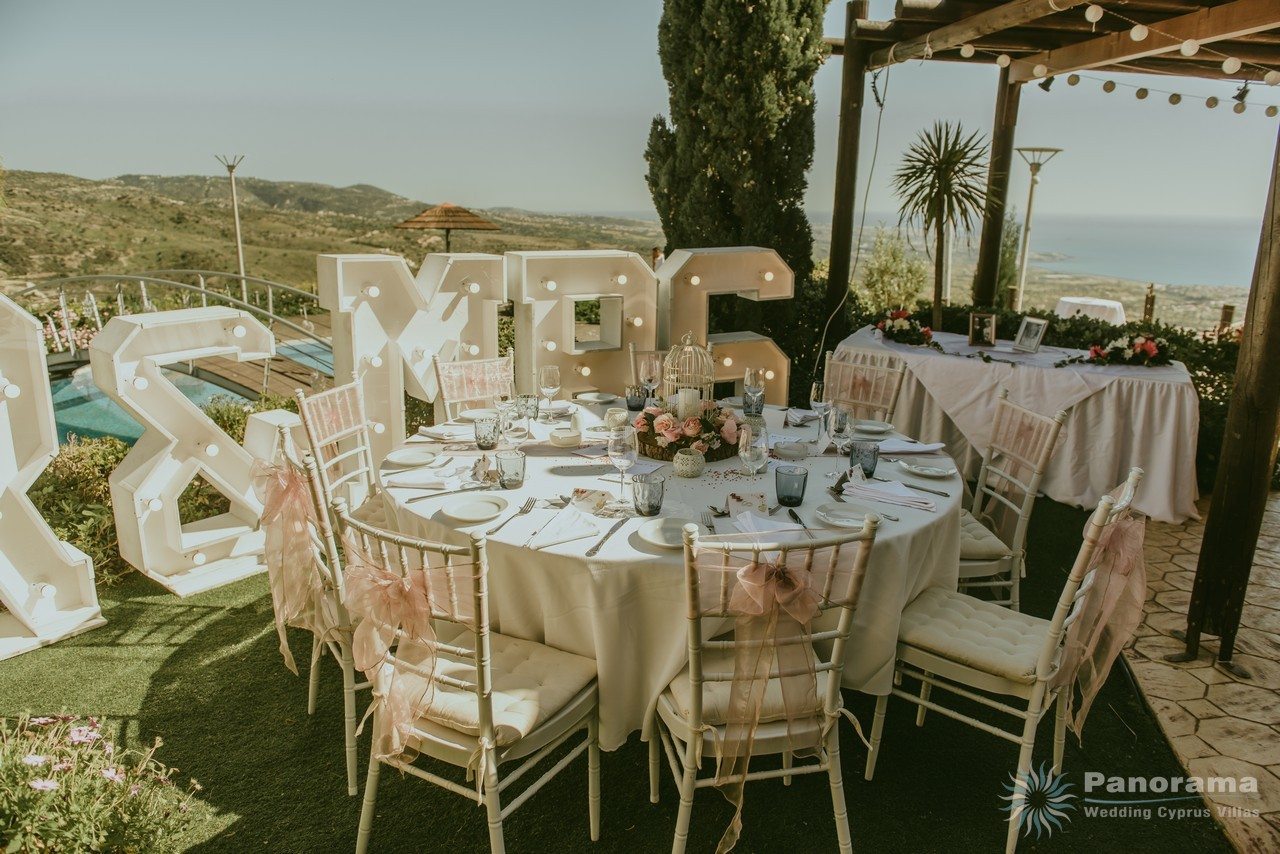 Wedding Reception at the villa Panorama