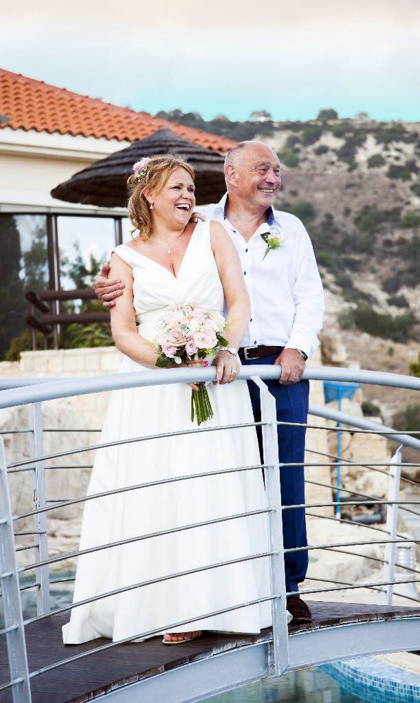 wedding couple at Panorama Villa in Peyia
