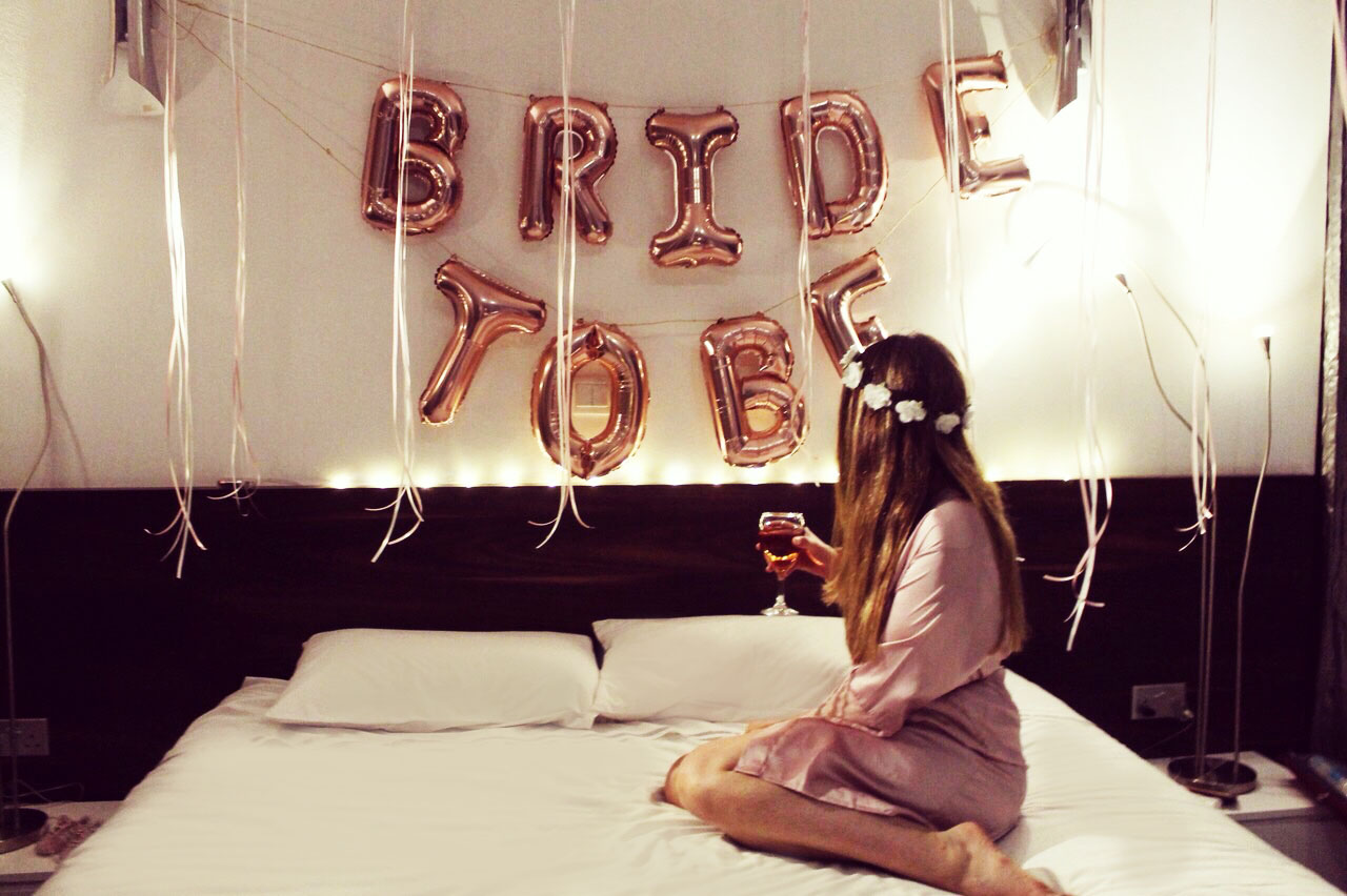 A bride to be at the wedding villa