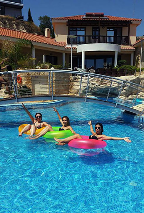pool party at Panorama Villa  bachellor