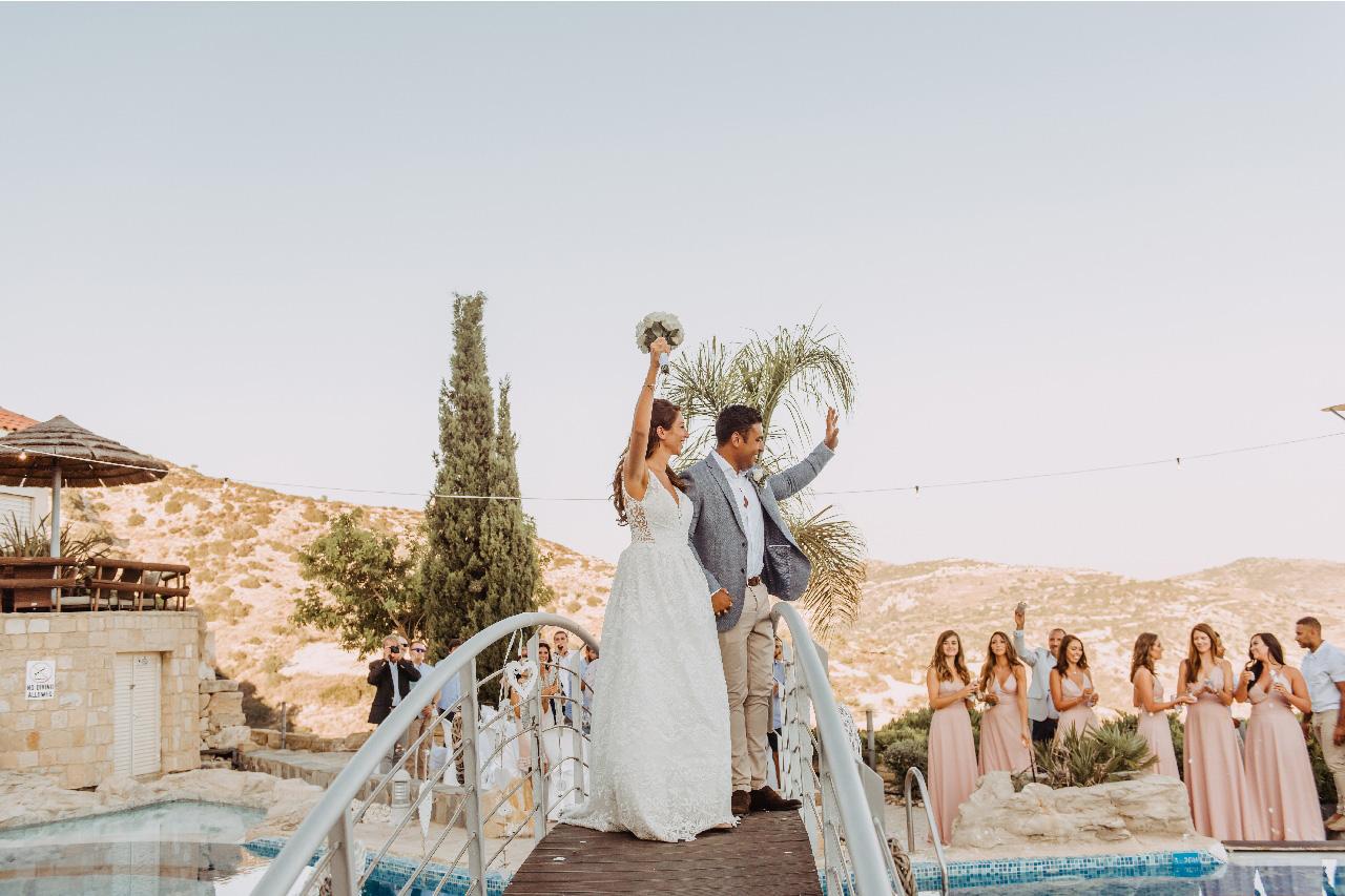 Bride and groom on the bridge of Panorama - Alexia Pegasiou Photos