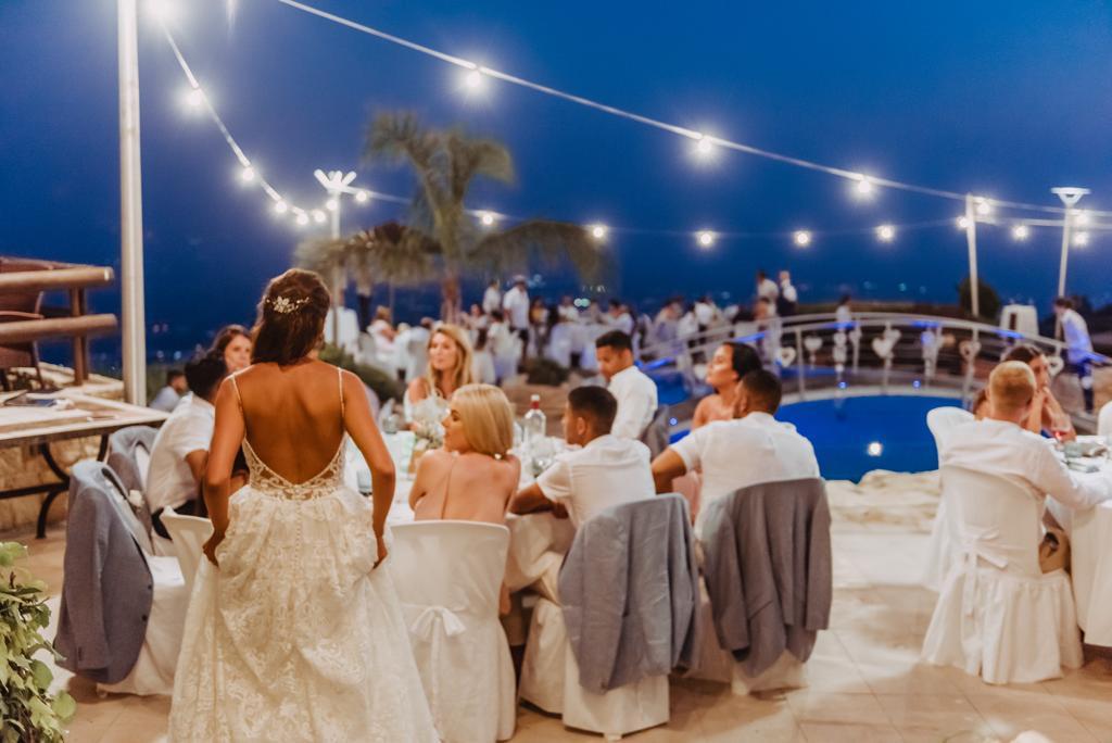 Wedding Reception Dinner at the villa Panorama