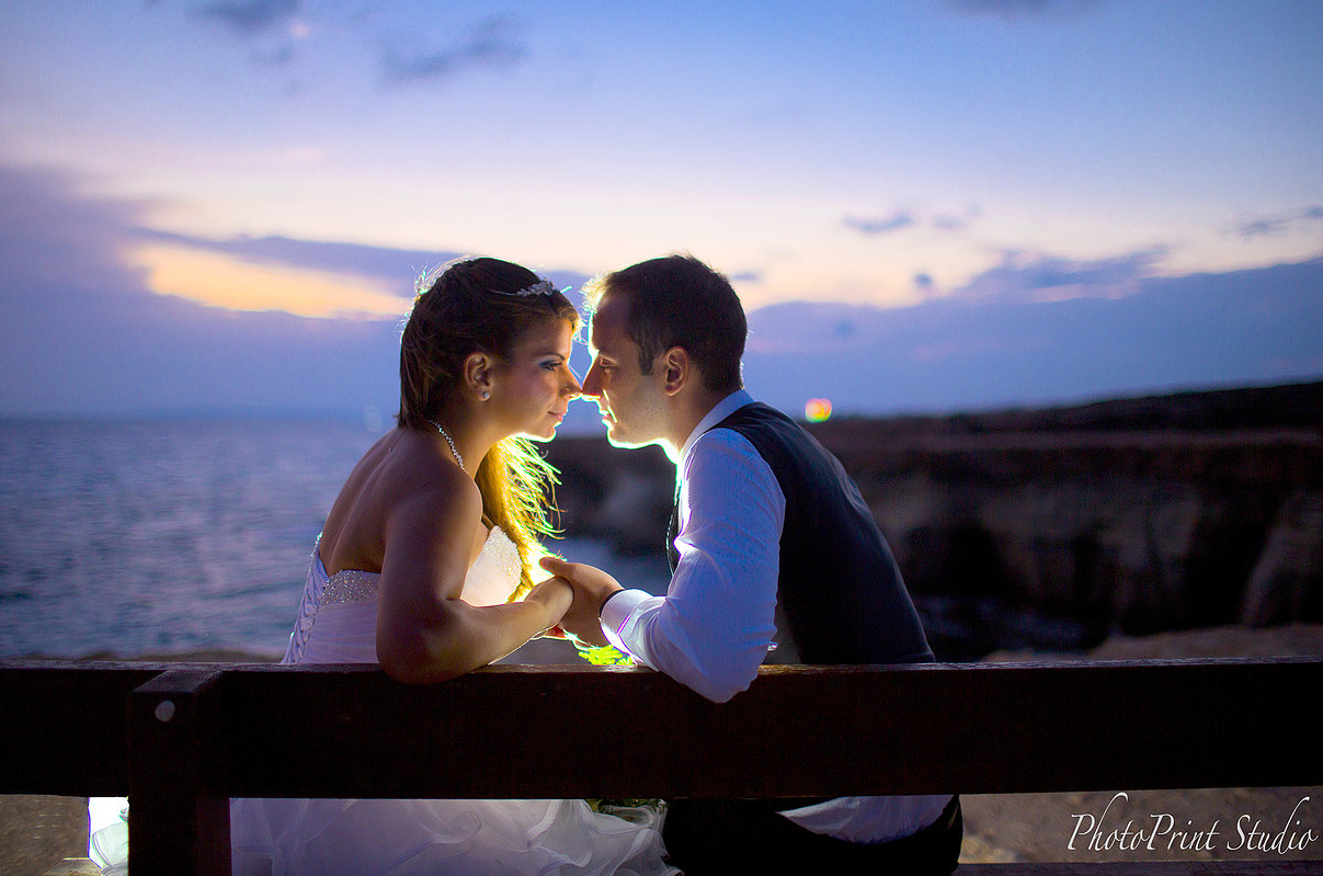 Romantic wedding in the island of love
