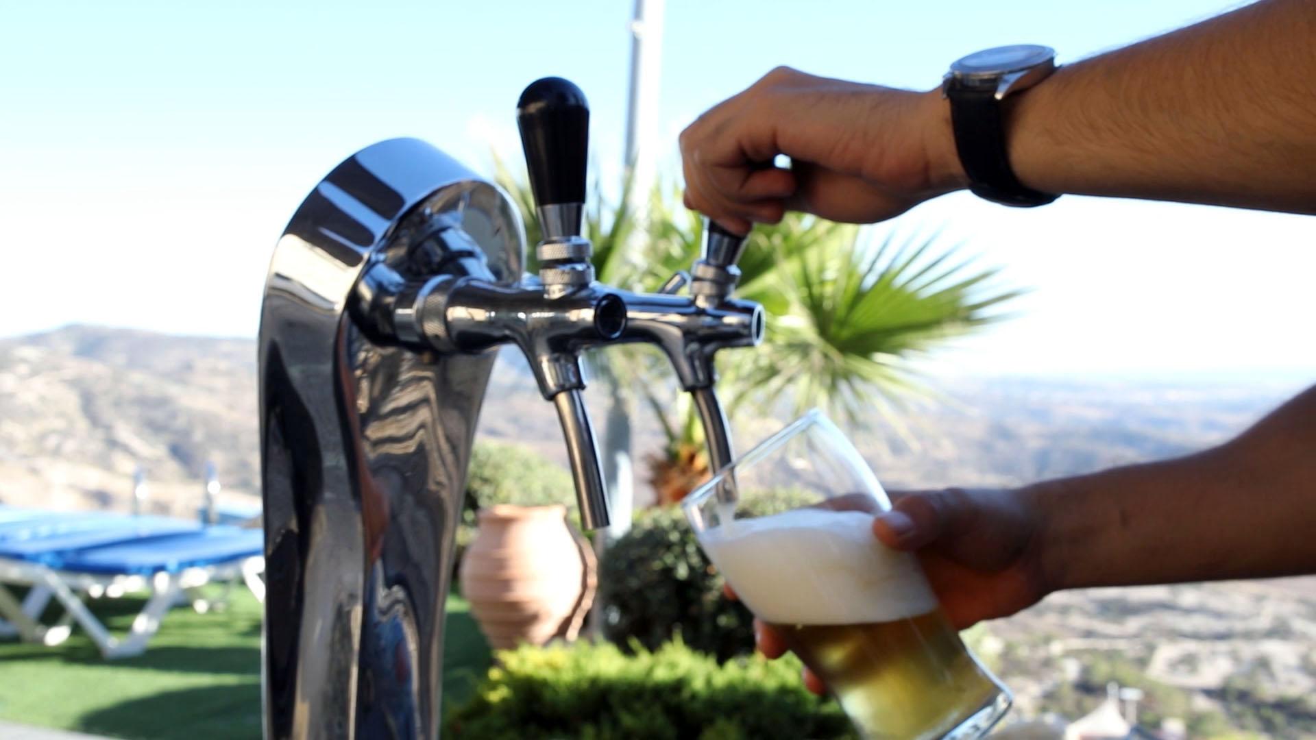 Draught Beer at the Villas