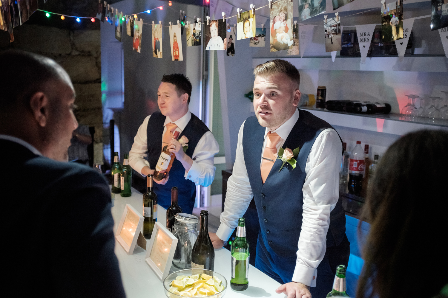 Self service for drinks at wedding