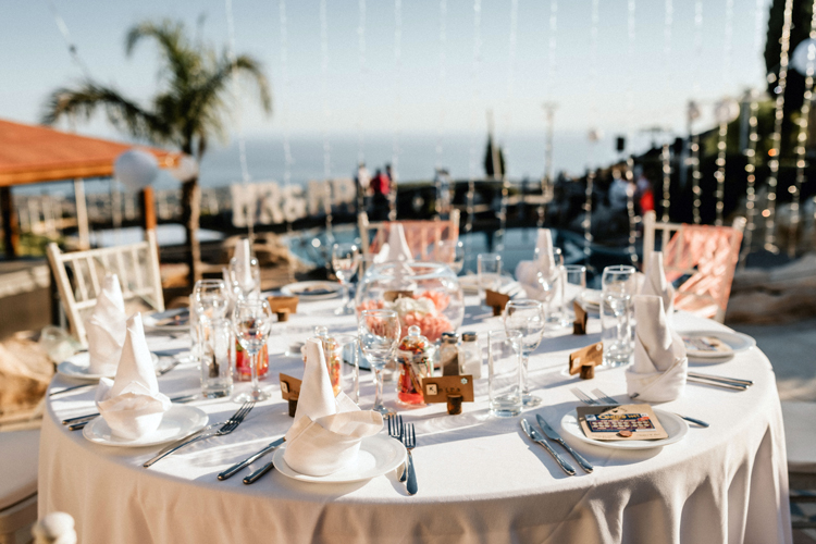 Wedding Reception at the villa 2023 Cyprus Dream Weddings and Planners
