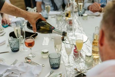 Serving Drinks at wedding