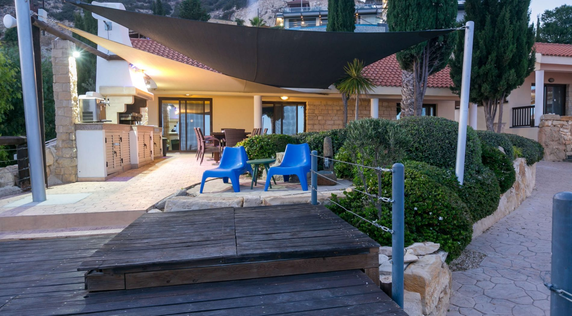 Outdoor Area with BBQ at Panorama Villa